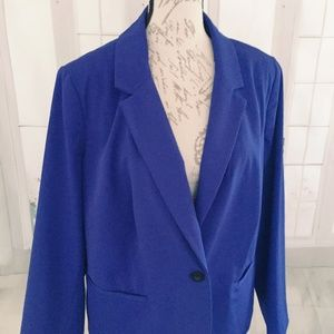 Worthington Woman 2X Blue Career Blazer Woman's